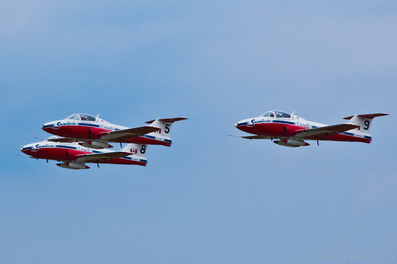 Canadian Snowbirds flying CT-114 Tutors
